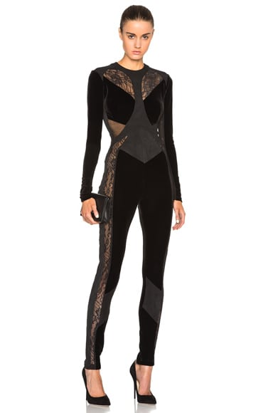 Mixed Media Catsuit