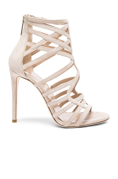 Tamara Mellon Goddess Nappa & Suede Sandals in Nude