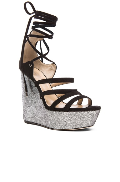 Yosemite Suede Wedge Sandals