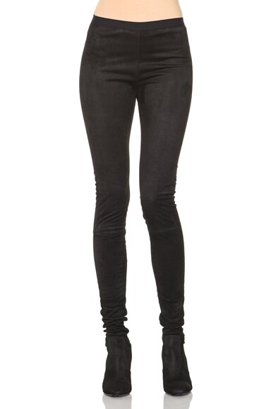 Tamara Mellon Sweet Revenge Suede Legging Boots in Black