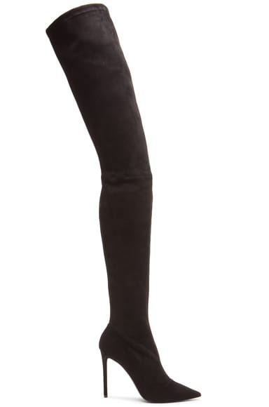 Tamara Mellon Trouble Over The Knee Suede Boots in Black