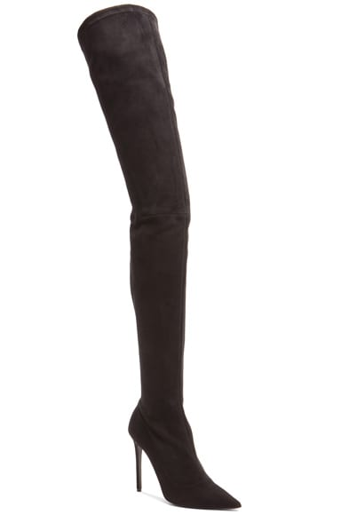 Trouble Over The Knee Suede Boots