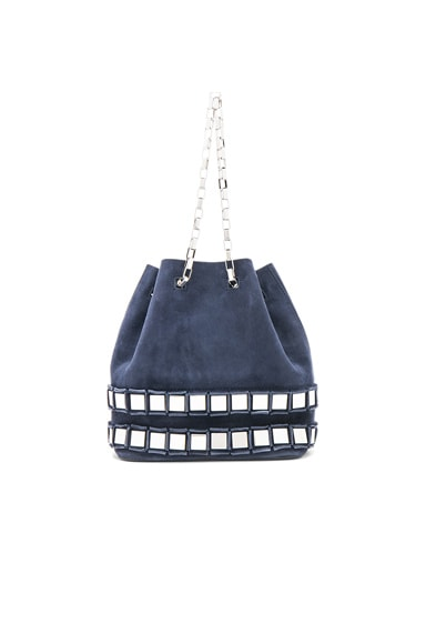 Tomasini Rosie Bag in Navy Mare & Silver