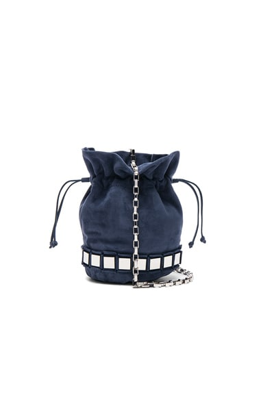 Tomasini Lucile Bag in Navy Mare & Silver