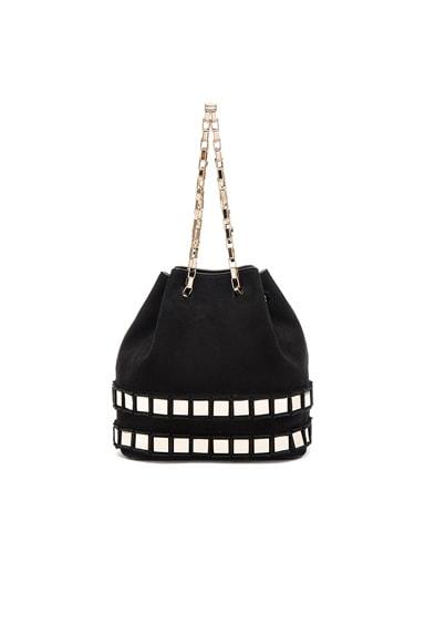 Tomasini Rosie Bag in Black & Light Gold