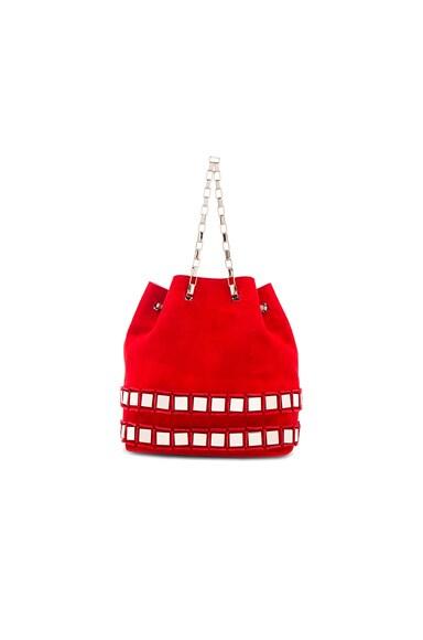 Tomasini Rosie Bag in Red & Light Gold