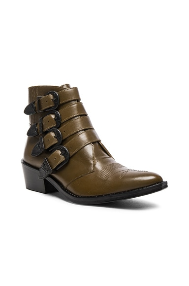 Limited Edition Leather Buckle Booties