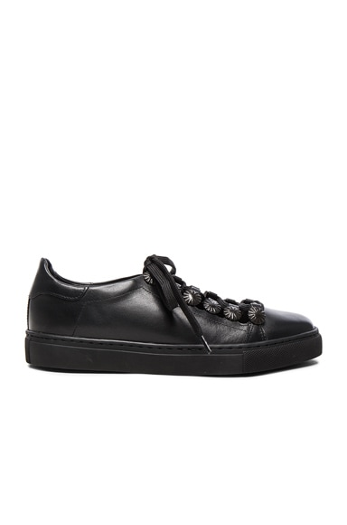 TOGA PULLA Leather Sneakers in Black