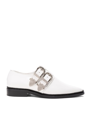 TOGA PULLA Leather Oxfords in White Polido