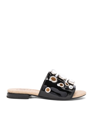 TOGA PULLA Patent Leather Sandals in Black Patent
