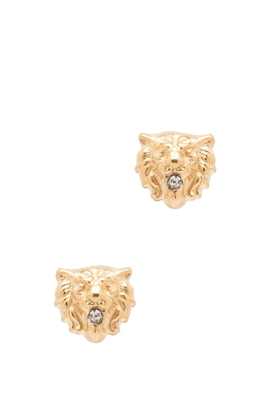 Lion Plated Earrings
