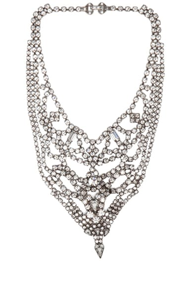 Triangle Crystal Rhodium Necklace