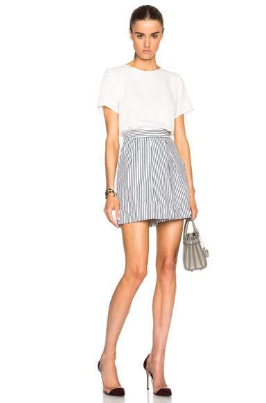 Cotton Poplin Culotte Shorts