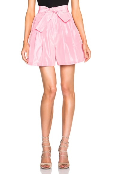 Tome FWRD Exclusive Taffeta Shorts in Candy Pink
