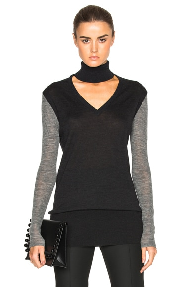 Tome V Turtleneck Sweater in Charcoal