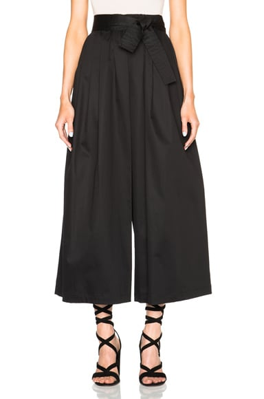 Tome Cotton Sateen Karate Pants in Black