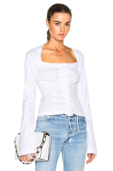 Long Sleeve Corset Top