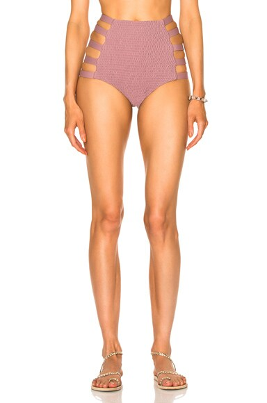 Tori Praver Swimwear Vera Bikini Bottom in Mauve