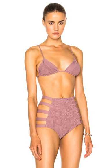 Tori Praver Swimwear Lahaina Bikini Top in Mauve