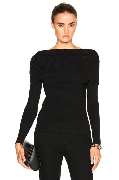 Toteme Jaca Long Sleeve Sweater in Black
