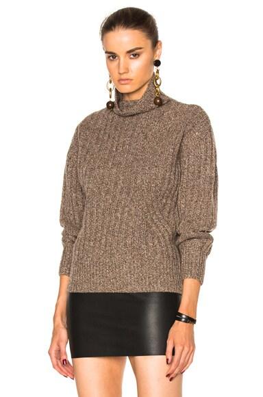 Toteme Verbier Turtleneck Sweater in Beige