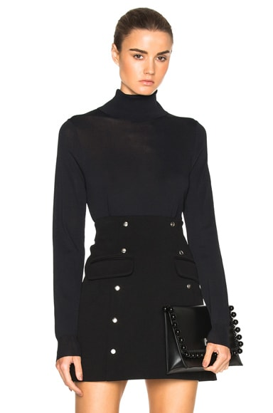 Toteme Bordeaux Turtleneck Sweater in Black