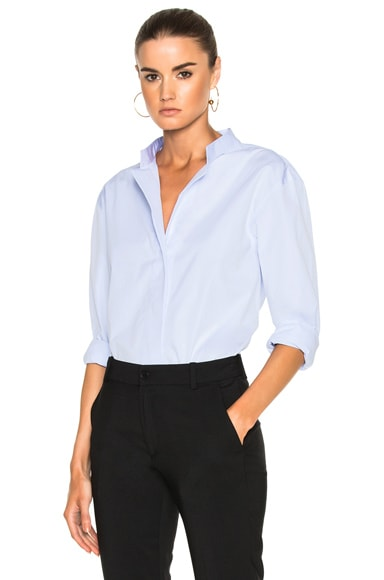 Toteme Kenya Button Down Top in Light Blue