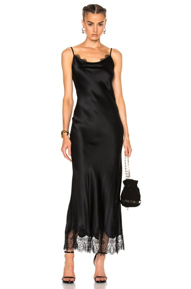 ThePerfext Stella Slip Dress in Black
