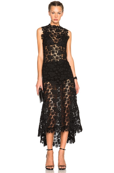 Skylar Crochet Lace Long Dress