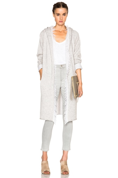 ThePerfext Melrose Sweater in Alabaster & Light Heather Grey