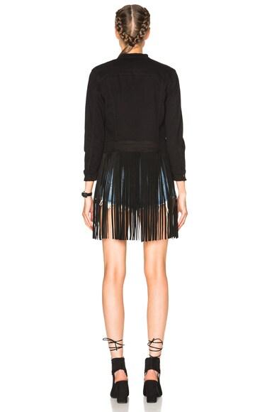 Molly Denim and Leather Fringe Jacket