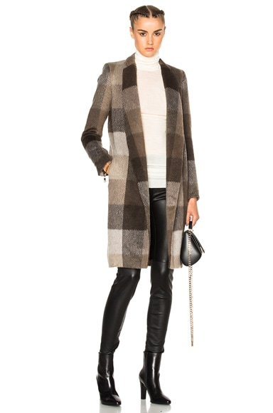 Manhattan Plaid Coat
