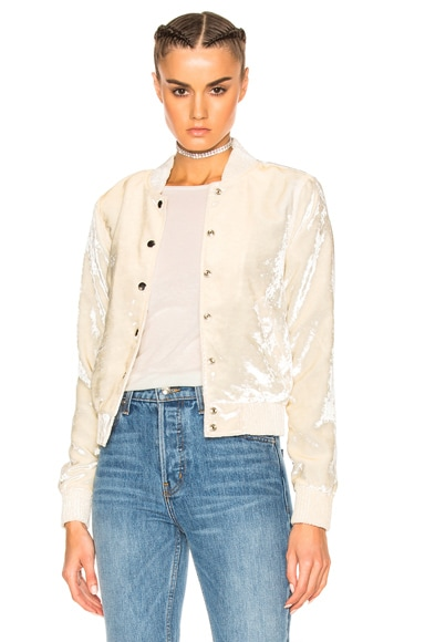 ThePerfext FWRD Exclusive Ashley Bomber Jacket in White