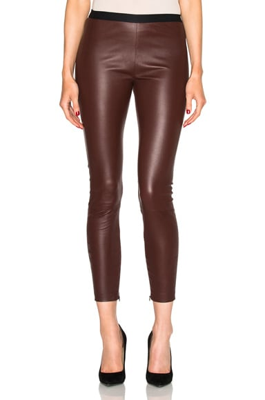 Brittany Cropped Leather Pants