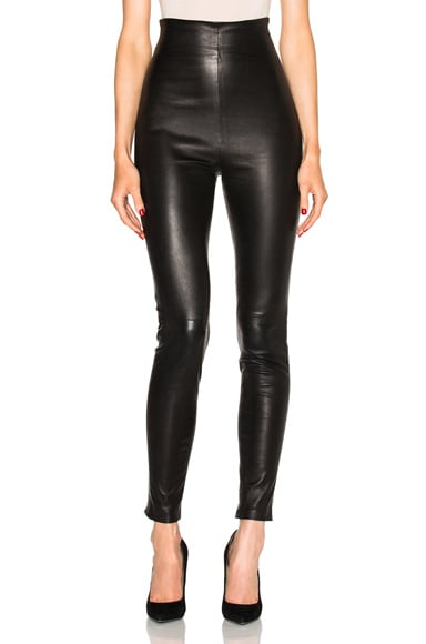 FWRD Exclusive Jessica High Waisted Leather Leggings