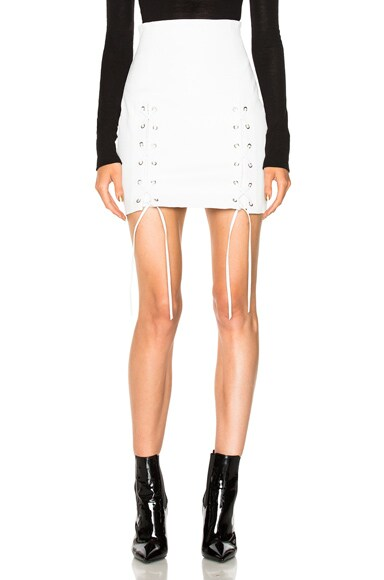 Leyla Leather Lace Up Skirt ThePerfext