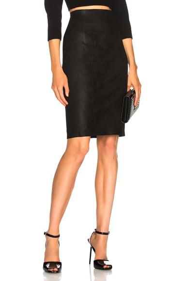 Amsterdam High Waisted Leather Skirt