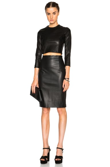 Amsterdam High Waisted Leather Skirt
