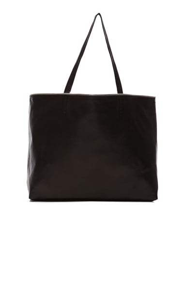 ThePerfext Nicole Leather Tote in Black
