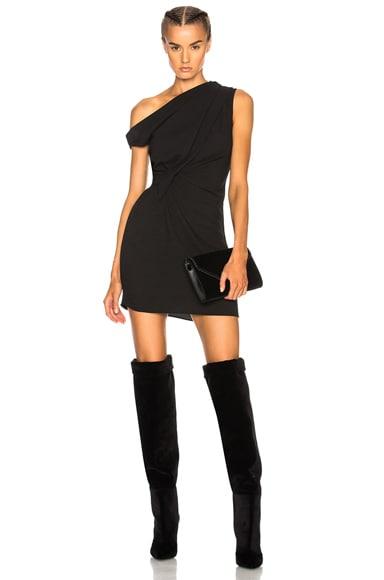 Off the Shoulder Draped Mini Dress