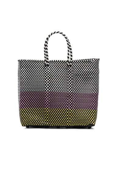 Truss Medium Horizontal Dip Tote in Pink & Yellow