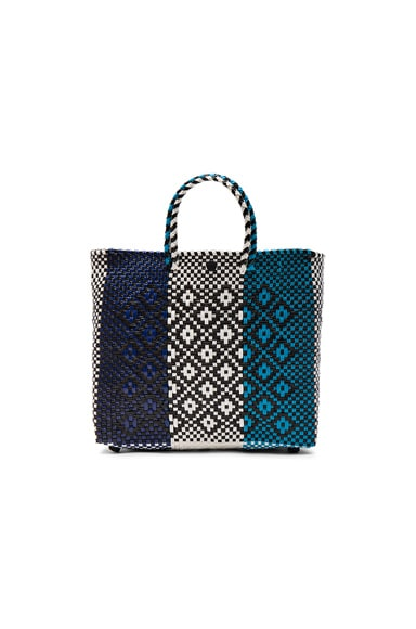 Truss FWRD Exclusive Crossbody Bag in Navy, Turquoise & White
