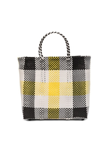 Truss Medium Tote in Black & Yellow Plaid