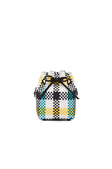 Truss Mini Bucket in Aqua & Yellow Plaid