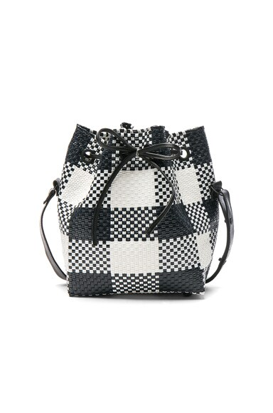 Truss Large Bucket in Black & White Plaid