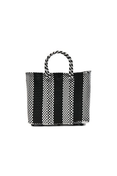 Truss Small Crossbody in Black & White Stripe