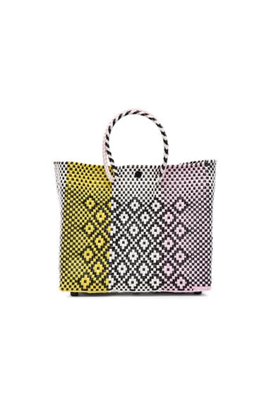 Truss Small Triptych Crossbody Bag in Pink & Yellow
