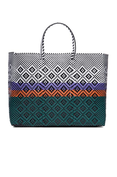 Truss Large Sunset Tote in Bottle Green