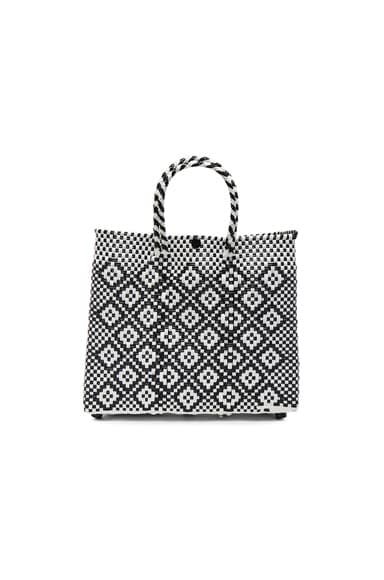 Truss Small Crossbody Tote in Black & White
