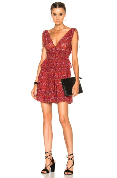 Ulla Johnson Noelle Dress in Ruby
